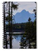Grand Teton Framed By Cedars Spiral Notebook