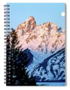 Grand Teton National Park Moonset Spiral Notebook