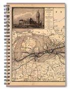 Grand Trunk Railway Map 1887 Spiral Notebook