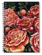 Grandma Lights Peonies Spiral Notebook