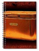 Grandma's Kitchen- Copper Breadbox Spiral Notebook