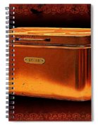 Grandma's Kitchen- Copper Breadbox Spiral Notebook