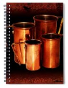 Grandma's Kitchen-copper Measuring Cups Spiral Notebook