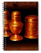 Grandma's Kitchen-copper Salt Pepper  And Flour Shakers Spiral Notebook