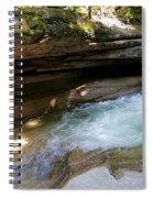 Granite Boulder And Sabbaday Brook Spiral Notebook