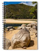 Granite Boulders In Abel Tasman Np New Zealand Spiral Notebook