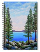 Granite Boulders Lake Tahoe Spiral Notebook