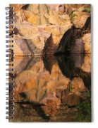Granite Cliffs And Reflections In A Quarry Lake Spiral Notebook