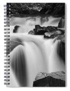 Granite Falls Black And White Spiral Notebook