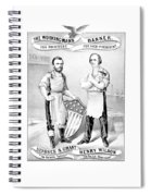 Grant And Wilson 1872 Election Poster  Spiral Notebook