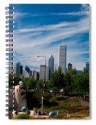 Grant Park Chicago Skyline Panoramic Spiral Notebook