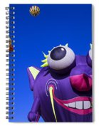 Graphic Hot Air Balloons Spiral Notebook