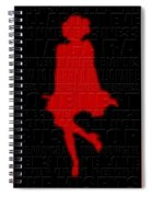 Graphic Marilyn 3 Spiral Notebook