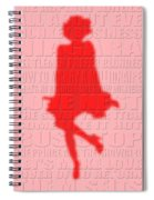 Graphic Marilyn Monroe 2 Spiral Notebook