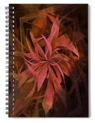 Grass Abstract - Fire Spiral Notebook