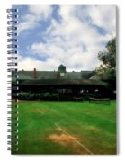 Grass Courts At The Hall Of Fame Spiral Notebook