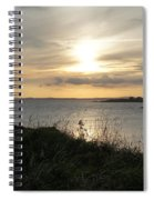 Grass In The Setting Sun Spiral Notebook