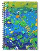 Grass Over Pond Spiral Notebook