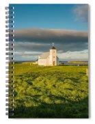 Grasslands And Flatey Church, Flatey Spiral Notebook