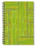 Grassy Green Stripes Spiral Notebook
