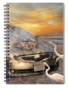 Grateful Friends Curious Egrets Spiral Notebook
