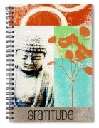 Gratitude Card- Zen Buddha Spiral Notebook