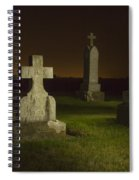 Gravestones At Night Painted With Light Spiral Notebook