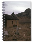 Graveyard Church Cabezon Peak Ghost Town Cabezon New Mexico 1971 Spiral Notebook