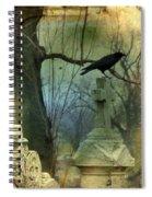Graveyard Cross Spiral Notebook