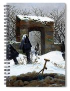Graveyard Under Snow Spiral Notebook