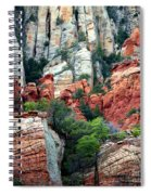 Gray And Orange Sedona Cliff Spiral Notebook