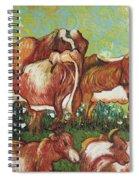 Grazing Cows Spiral Notebook