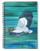 Great Blue Heron-3a Spiral Notebook