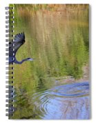 Great Blue Heron And Coot Spiral Notebook