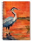 Great Blue Heron In Marsh Spiral Notebook