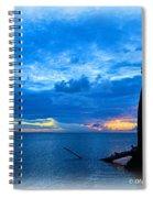 Great Blue Heron Sunrise Spiral Notebook