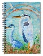 Great Blue Herons Seek Freedom Spiral Notebook
