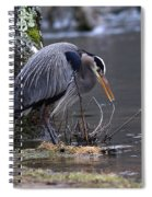 Great Blue On The Clinch River II Spiral Notebook