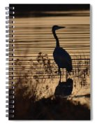 Great Blue Silhouette Spiral Notebook
