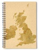 Great Britain Map Spiral Notebook