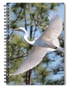 Great Egret Spirit Spiral Notebook