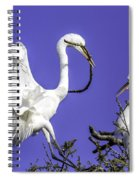 Great Egrets Nesting Spiral Notebook