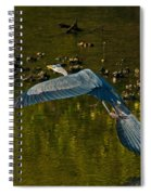 Great Heron Over Oyster Beds Spiral Notebook