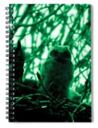 Great Horned Owl And Owlet Spiral Notebook