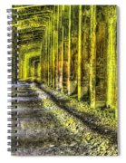 Great Norther Railroad Snow Shed - Electric Neon Spiral Notebook