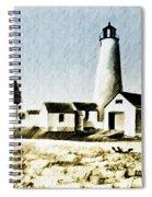 Great Point Lighthouse Nantucket Spiral Notebook