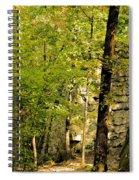 Great Wall Of Rock In Boulder Field Spiral Notebook