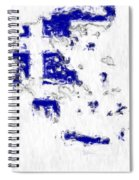 Greece Painted Flag Map Spiral Notebook