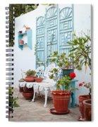 Greek Courtyard Spiral Notebook