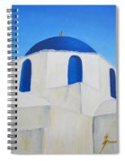 Greek Island Church  Spiral Notebook